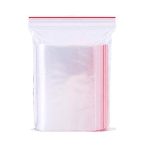 100 unids 7x10 cm Bolsas de Sellado Bolsas de Cremallera Bolsas Transparentes Bolsas de Almacenamiento de Bolsas de Almacenamiento Transparentes Que ...