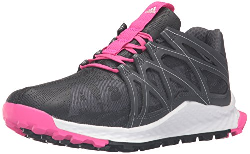 adidas Women's Vigor Bounce w Tennis Shoe, Grey/Dark Shale/Easy Coral, 7 M US