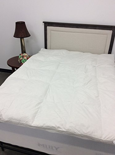 Pillowtex White Duck Feather and Down Feather Bed with Zippered Cover (King)