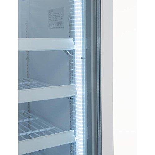Vitrine réfrigérée négative une porte avec bandeau lumineux Polar 412L Une porte, 412L.