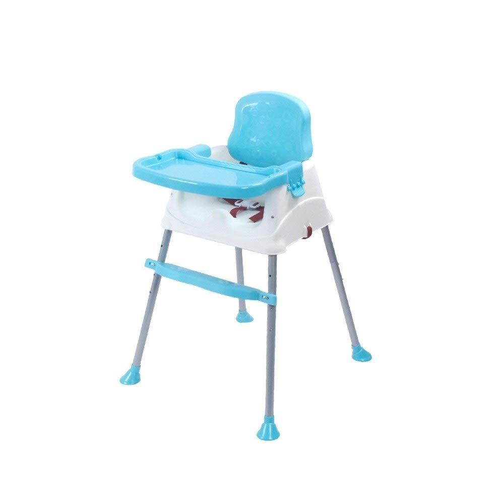 ZXQZ 赤ん坊の高い椅子 - 多機能の子供のダイニングチェアの赤ん坊のテーブルの赤ん坊のテーブルの6か月から5年まで老化する子供のために適した調節可能なポータブル   B07TY4PQJX