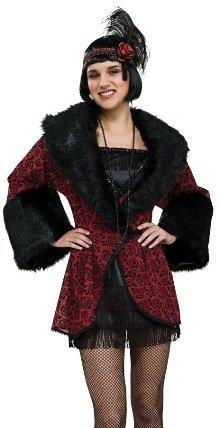 [1920s Flapper Coat Costume - Standard - Dress Size 10-12] (1920s Costumes Jewelry)