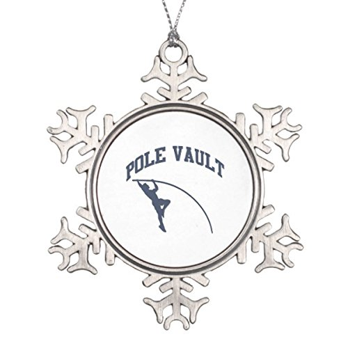 Onlyou Pole Valt Snowflake Pewter Christmas Ornament (Ornament Pewter Snowman)