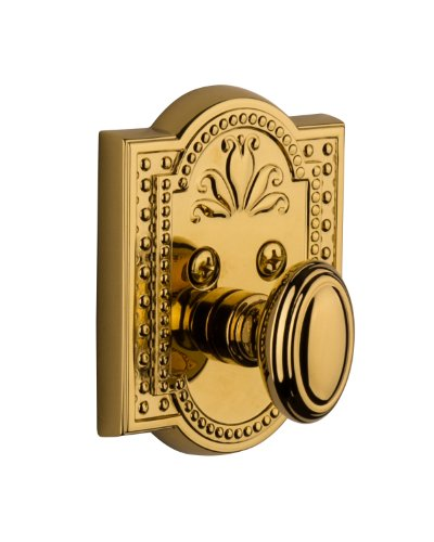 Grandeur Parthenon Single Cylinder Deadbolt, Lifetime - Parthenon Brass Single