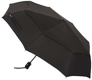 AmazonBasics Automatic Travel Umbrella, with Wind Vent, Black