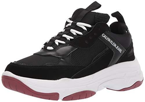 CK Jeans Men's MARVIN Shoe, Black Mesh/Lyrca Suede, 10  M M US