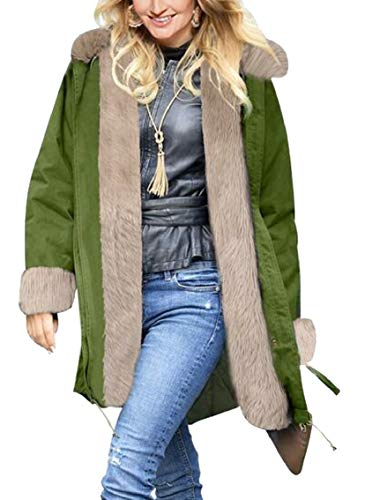 Cappuccio Womens Parka Con 7 Warm Outwear Coat Winter Gocgt Cardigan XBaCa