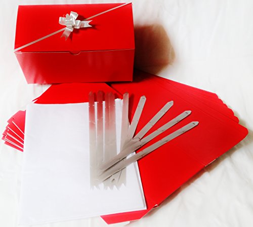 Set of 10 Red Gift Boxes (9.75x4.75x4
