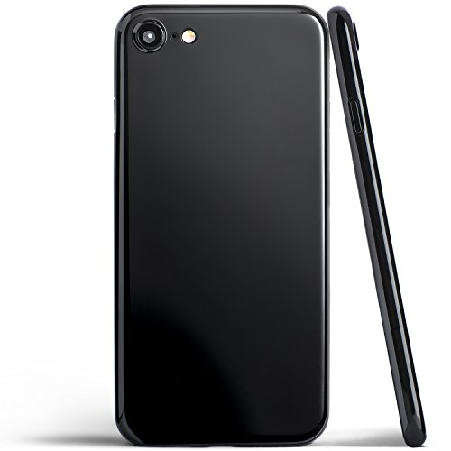 totallee iPhone 8 Case, Thinnest Cover Premium Ultra Thin Light Slim Minimal Anti-Scratch Protective - for Apple iPhone 8 The Scarf (Jet Black)