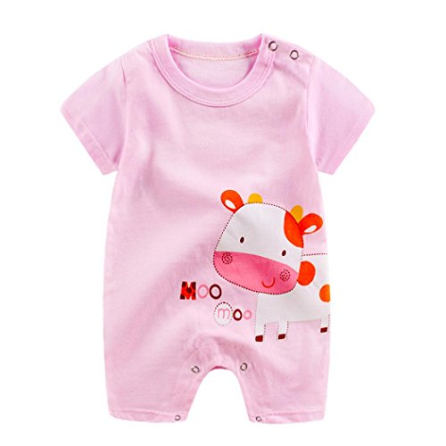 TRENDINAO Newborn Baby Boy Girl Cartoon Cows Romper Jumpsuit Toddlers Infant Climbing Clothes