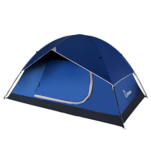 WolfWise 2 Person 3-Season Backpacking Tent Camping Hiking Outdoor Tent with Carrying Bag Deep Blue