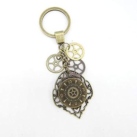 Amazon.com: PPL88-1 llavero vintage con aspecto de reloj y ...
