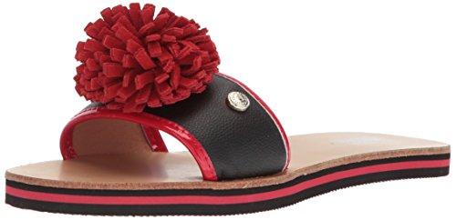 MOSCHINO Chaussures spécial piscine et plage pour femme Noir noir/rouge M3y53lxo0