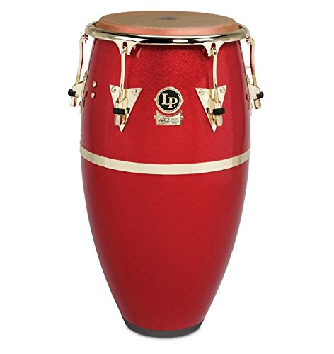 LP Galaxy Fiberglass Fausto Cuevas III Signature Conga, Arena Red with Gold Hardware 12.50 in.