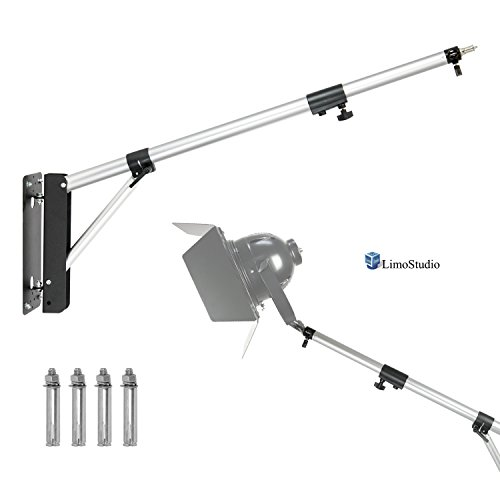 "LimoStudio Max 55"" Photo Wall Mounting Boom Arm with Screws for Photography Photo Video Light, Camera, Umbrella, Reflector, AGG2652 by LimoStudio"