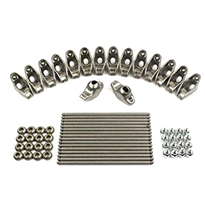 New Rocker Rockers Arms, Nuts, Balls & Push Rods Set compatible with 1955-1986 Chevy sb 400 350 327 307 305 302 283 267 265 262: Automotive