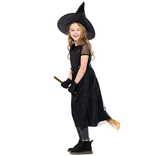UONQD 4PC Children Halloween Costume Cosplay Ball Dress