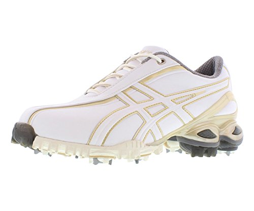 ASICS Women's Lady GEL-Ace Golf Shoe,White/Champagne Gold,10 M US by ASICS