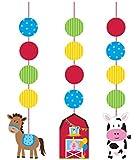 Creative Converting Farmhouse Fun Printed Hanging Cutouts (3 Count)