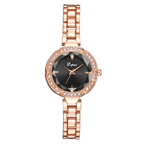 (LUCAMORE Women's Mini Quartz Analog Watch Stainless Steel Bracelet Wrist Watches Fashion Dress Watches)