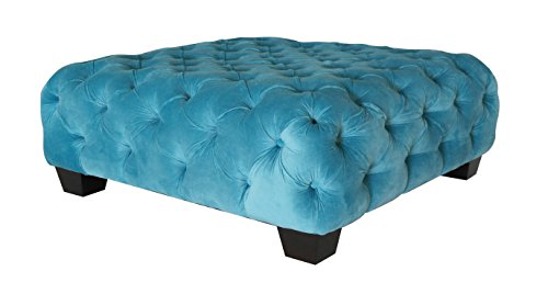 Casa Milano Collection Velvet Tufted Ottoman (Milano Collection Storage)