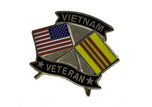 (Vietnam Veteran USA Flags Marines Navy Army Air Force Lapel Hat Pin PPM7503 (2 Pins))
