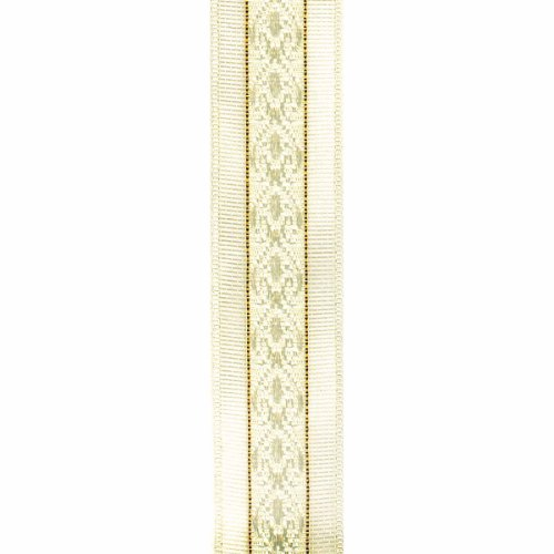 Offray Cosette Craft Ribbon, 5/8-Inch x 12-Feet, Ivory