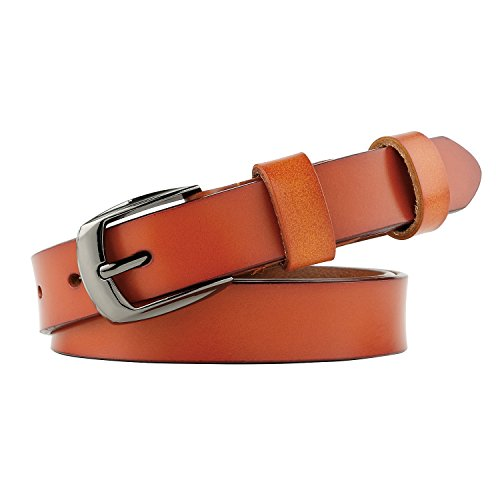 orange dress brown belt - 2