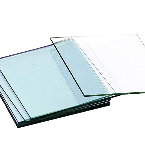 Huanyu ITO Coated Conductive Glass Transparent Indium Tin Oxide Coated Conductive Glass for Lab R&D Use 7/10/15/17 ohm/sq (ITO <7ohm/sq, 100×100×1.1mm, 5pcs)