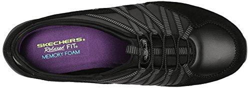 Skechers Sport Conversazioni Da Donna Affascinante Moda Sneaker Nero Carbone
