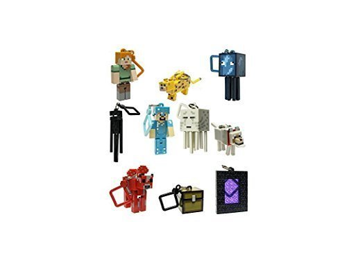 Minecraft Toy Action Figure Hanger Series 2 Set of 10 PC (Party Minecraft)