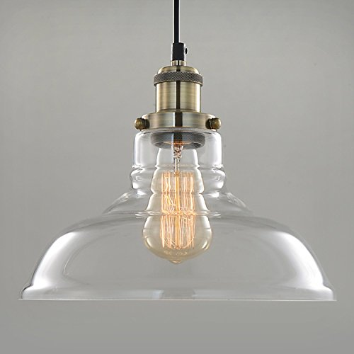 SPARKSOR Pendant Light Hanging Glass Shade Ceiling Mounted