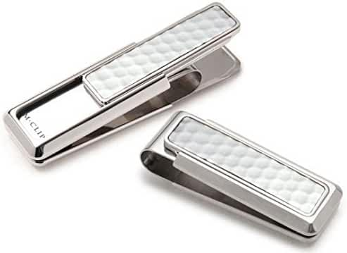M Clip Golf Ball Skin Money Clip Brushed Stainless