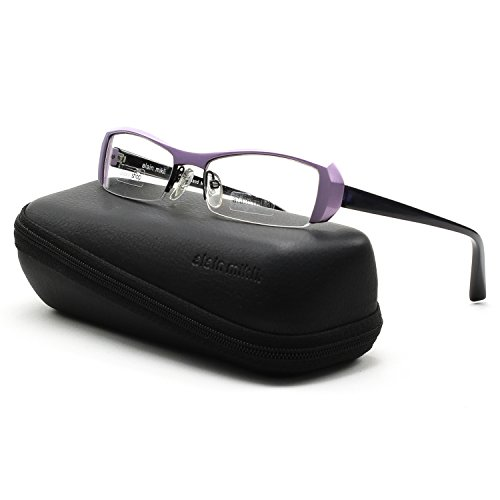 Alain Mikli Eyeglasses A0613-11 Metallic Lavender Frame Deep Purple Temples 52mm