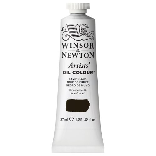 Winsor & Newton Artists Oil Color Paint Tube, 37ml, Lamp Black