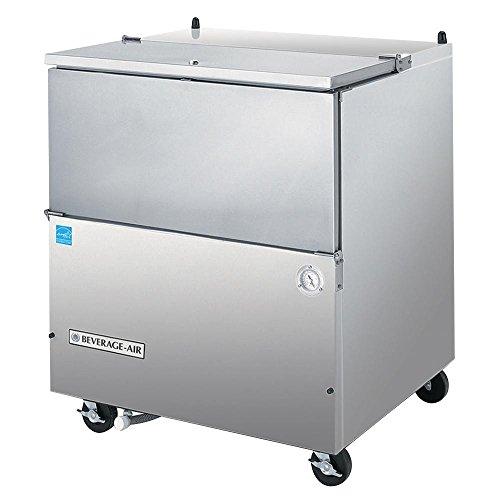 Milk Cooler 8 Crate - Beverage Air SM34N-S Single Access Eight Crate Capacity Milk Cooler in Stainless Steel