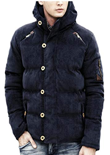 Thicken 1 Gocgt Men's Padded Casual Down Winter Corduroy Coats Jackets xzqvz7X1