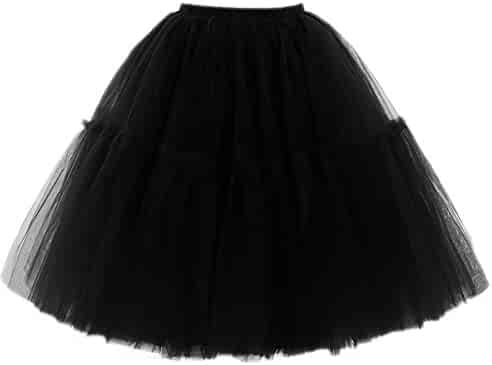 0df788a4280 FOLOBE Adult Ballet Tutu Layered Organza Lace Mini Skirt Women s Princess  Petticoat for Prom Party
