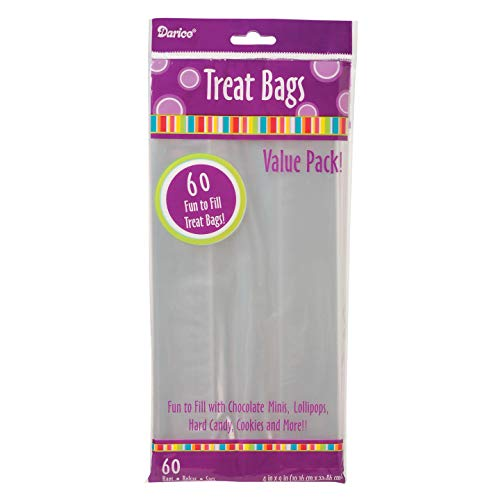 Bulk Buy: Darice DIY Crafts Value Pack Clear Treat Bags 4 x 9 inches 60 pieces (12-Pack) 28-003V
