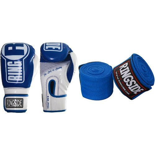 Ringside Apex Boxing Bag Gloves, Mexican-Style Boxing Handwrap and Glove Deodorizer Bundle by