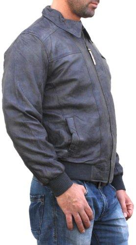 Trend Lederjacke lammnappa echtleder Jacke aus Lamm Nappa Leder grau