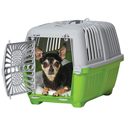 Midwest Spree Travel Pet Carrier | Hard-Sided Pet Kennel Ideal for Toy Dog Breeds, Small Cats & Small Animals | Dog Carrier Measures 19.1L x 12.5 W x 13H - Inches | Great for Short Trips to The Vet