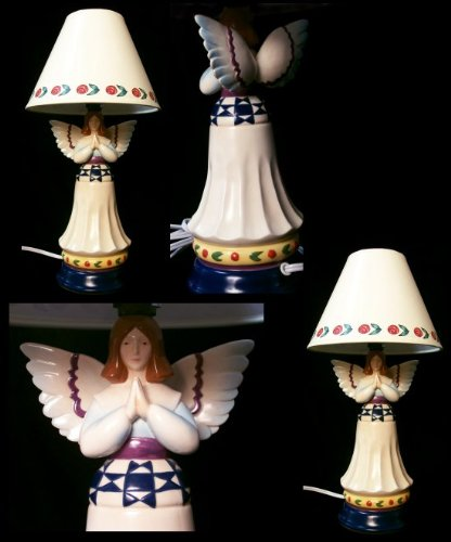 Jim Shore Mini Angel Praying Lamp