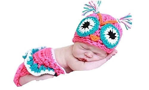 CX-queen® Newborn Owl Infant Baby Knit Crochet Handmade Photography Photo Props -