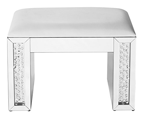 Decor Central ADMFX9-3054 Crystal Vanity Leather Stool, 26