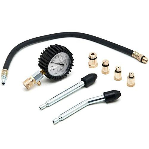Biltek Engine Cylinder Compression Tester Gauge Kit Professional Mechanics Gas Engine + KapscoMoto Keychain by Biltek (Image #2)