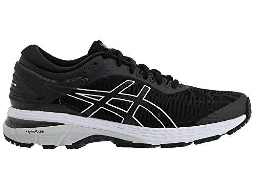 ASICS Women's Gel-Kayano 25 Running Shoes, 10M, Black/Glacier Grey