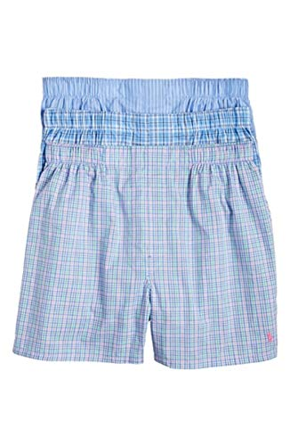 Polo Ralph Lauren Classic Fit 100% Cotton Woven Boxers - 3 Pack (LCWBS3) S/Plaid/Stripe/Plaid