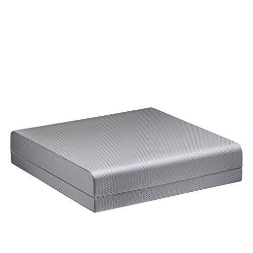 Allure Contemporary Pearl Necklace Box, Silver