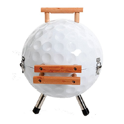 Gibson 107188.01 Home Golf Ball BBQ Steel Grill with Wood Handle, 14-Inch, White